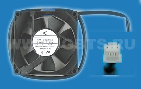 Melco Technorex Fan 2-wire no sensor .13A 24V Replaced MMF-08D24ES-RNF Replaced ASF865A2401