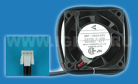 Melco Technorex Fan 2-wire no sensor .09A 24V Replaced TSF613A2401 (Matsushita) Replaced by MMF-06D24DS-A17 (Переименовано в MMF-06D24DS-A17)