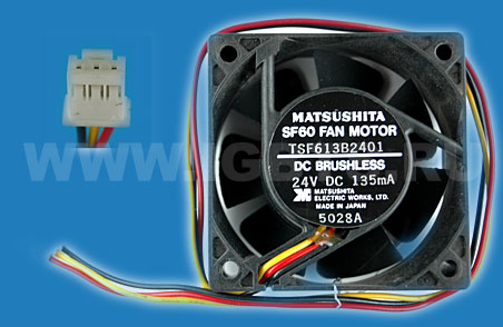 Вентилятор Matsushita Fan 3-wire with sensor 135mA 24V Replaced by MMF-06D24DS-RC7 (Melco)