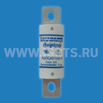 Предохранитель Ferraz Gould Shawmut Fuse 100A 500V Removed From Equipment