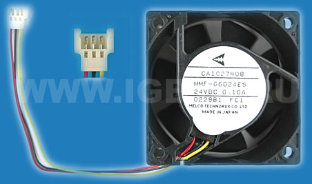 Melco Technorex Fan 3-wire with sensor .10A 24V