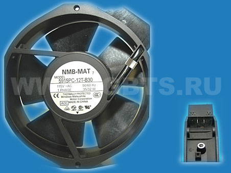 NMB Minebea Fan 115V 50/60Hz 35/32W 1 Phase Removed from equipment