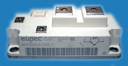 Силовой модуль Eupec BSM300GA120DLC  IGBT 300A 1200V  Single