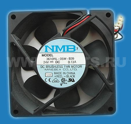 NMB Minebea Fan 3-wire with sensor .13A 24V